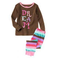 Детская пижама Crazy8, хлопок, 10 лет