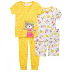 Детская пижама (4 предмета) Carters, хлопок, 18 мес