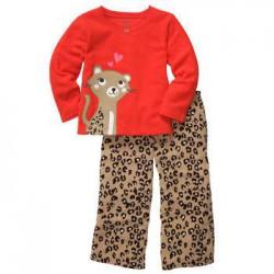 Детская пижама Carter's, флис+хлопок, 2 года